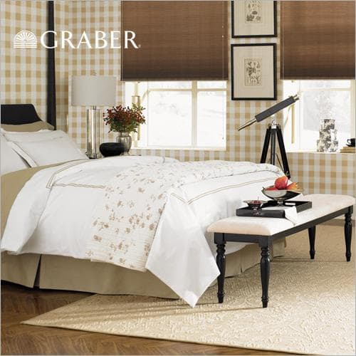 "Graber blinds crystal pleat 3/8"" double cell light filtering"