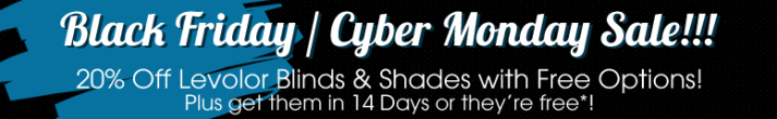 20% off Levolor Shades plus free options and 14 days or they're free!