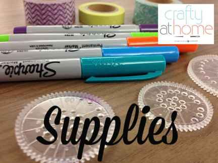 Spirograph Upcycling Supplies