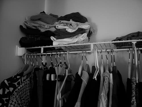 Closet via Flickr user Sara Bellum