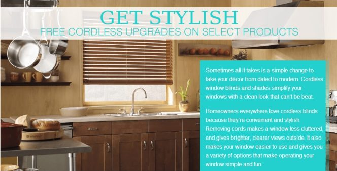 Free Cordless blinds