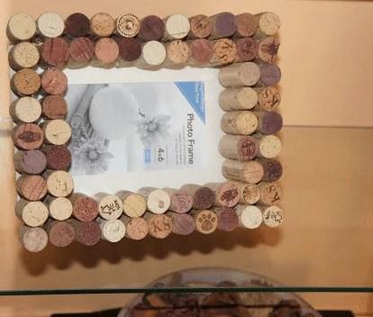 diy cork picture frame