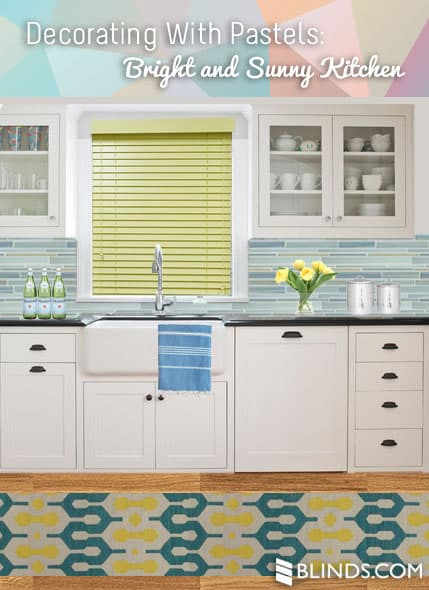 Bright and Happy Yellow Blinds for the Kitchen