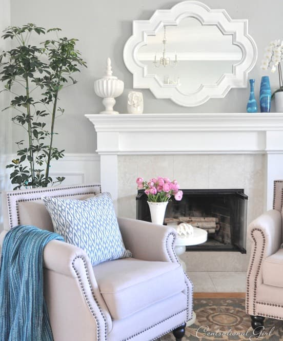 Summer Decorating - Add a mirror to bounce light