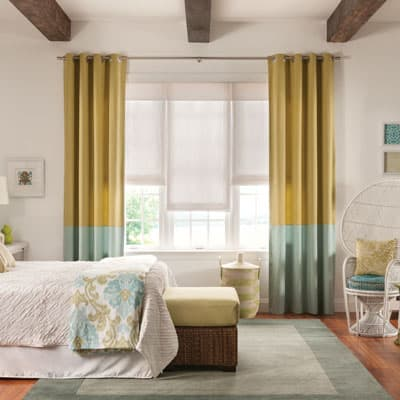 Bali Draperies and Roman Shades