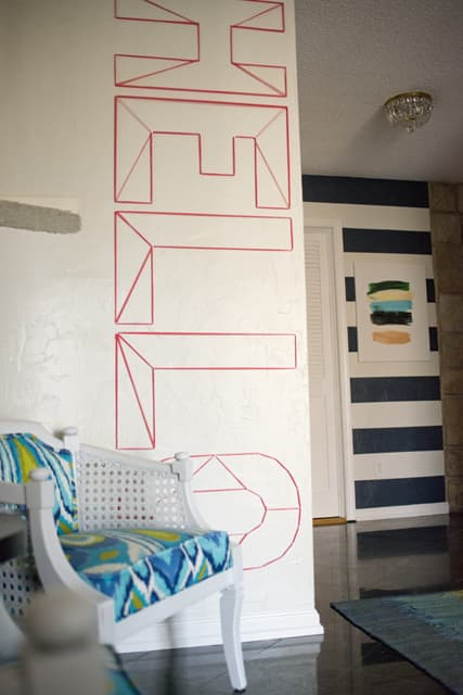 Hello Washi Tape Wall Art