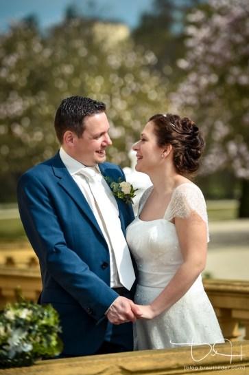 Braut und Braeutigam im Rokokogarten! Der Hochzeitsfotograf beim Brautshooting im Rokokogarten.