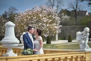 Geht es noch romantischer? Der Hochzeitsfotograf fotografiert im Rokokogarten bei Wuerzburg!