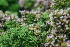 Die Ringe fotografiert der Hochzeits Fotograf.