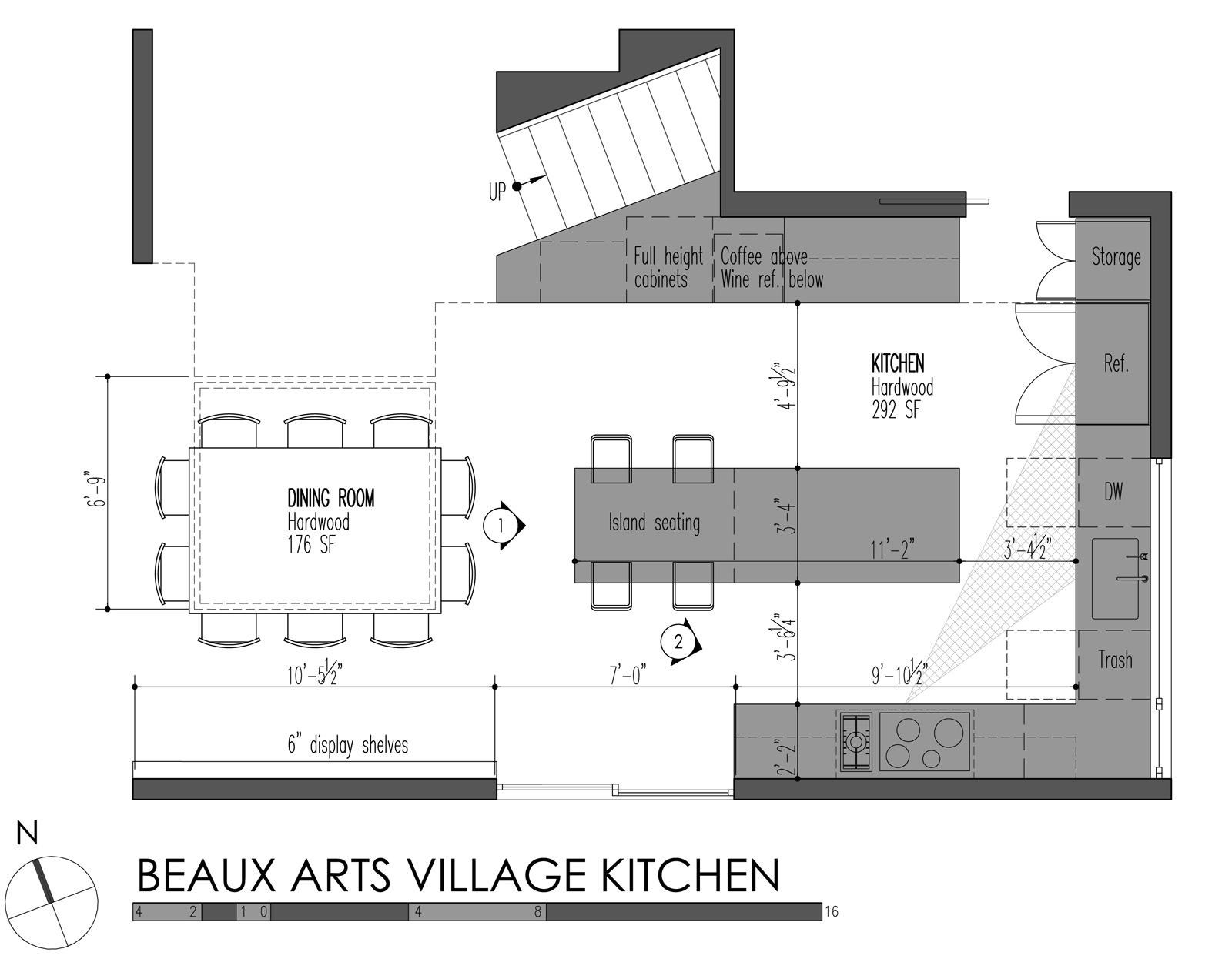 Prissy Build Llc Beaux Arts Village Kitchen Plan Standard Kitchen Plan Standard Kitchen Setup kitchen Standard Kitchen Layouts