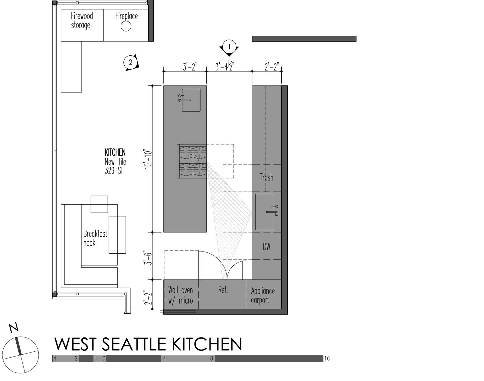 5 modern kitchen designs principles kitchen wall cabinet sizes West Seattle Kitchen plan