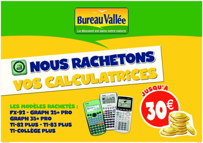 kakémono rachat de calculatrices