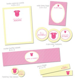 Enticing Pin It Free A Baby Shower Printables From Green Apple Paperie Baby Shower Girl Games Baby Shower Girl Cookies