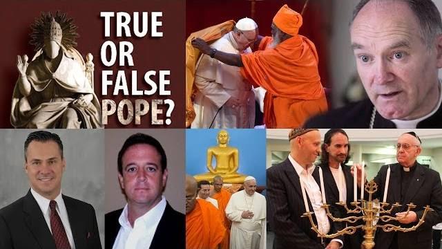Faux pape de la trinité profane de Satan