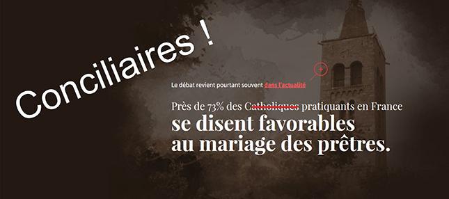 """Peu de """"prêtres"""" célibataires ? Alors place aux… """"prêtres"""" mariés…"""