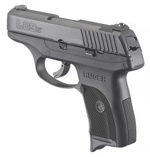 New Ruger LC9s Pro black polymer-framed 9mm pistol with no external safety.