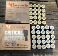 Hornady Critical Defense and XTP loads