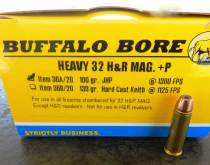 100-grain JHP .32 H&R Magnum cartridge