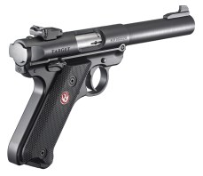 Ruger Mark V .22 pistol right quartering
