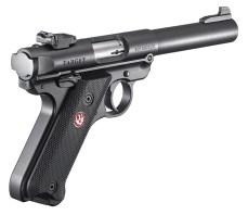 Ruger Mark V .22 pistol right quartering