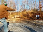 Bob Campbell shooting a .22 lr revolver