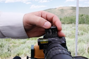dialing a rifle scope turret