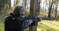 Shooting an AR-10 from cover