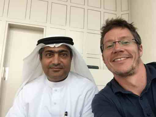 Ahmed Mansoor and myself