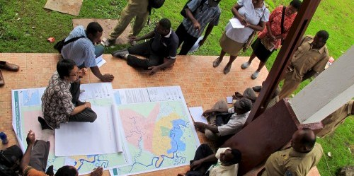 Suatu pendekatan kolaboratif bagi perencanaan tata guna lahan sedang digalakkan di provinsi Papua. Mokhammad Edliadi / CIFOR