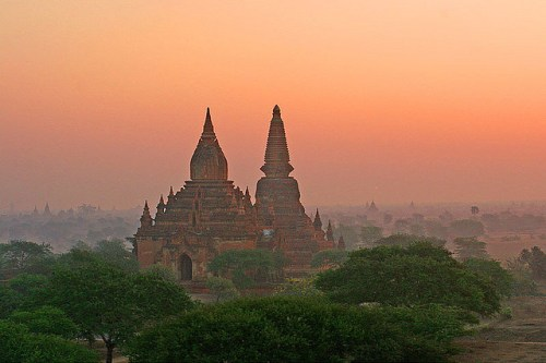 Myanmar's slow economic growth has contributed to the preservation of much of its forest cover. Jean-Marie Hullot