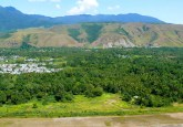 Village near hills Papua