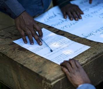 Workshop group part of project COBAM. Lukolela, Democratic Republic of Congo. Ollivier Girard/CIFOR photo