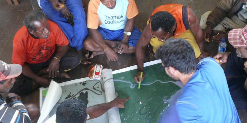 With participatory mapping techniques, land use and land cover maps are developed together with local communities.