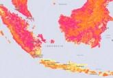 Peta menunjukkan stok karbon butan, Indonesia. Konferensi Bentang Alam mendengar bahwa memiliki 'satu peta' yang mencakup semua masalah kehutanan sangat penting. Photo courtesy of globalforestwatch.org