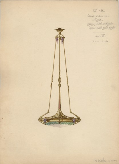Watercolor design for a lighting fixture (CMGL 138909)