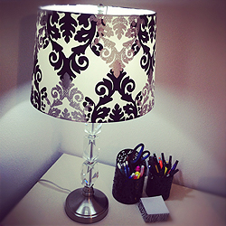 Crystal Lamp and Shade from Lowes