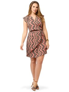 POSTCARDS Tribal Print Cascade Dress