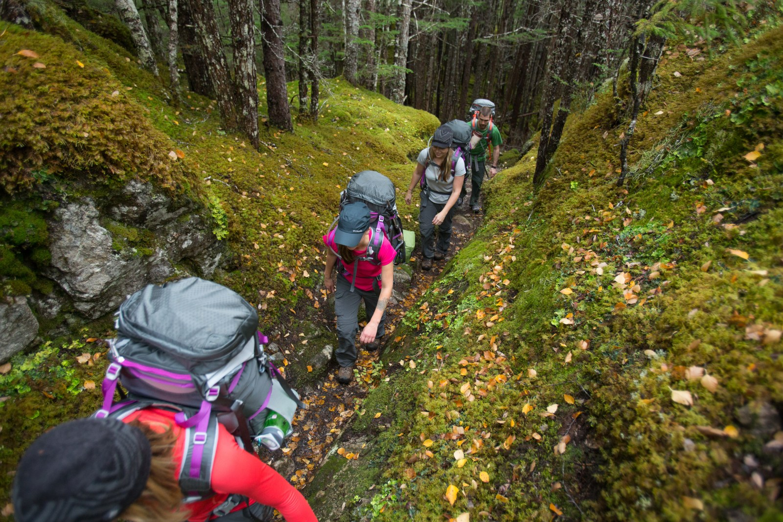 group of hikers respecting outdoor etiquette