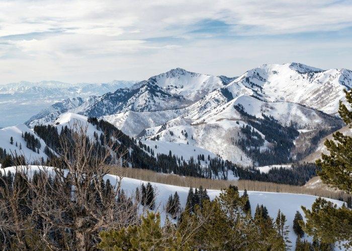 Park City Mountain Range in Utah