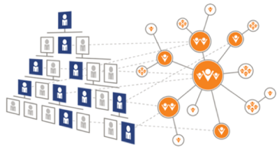 Complex collaborations in organizations