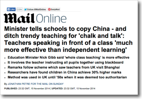 Mail Online - chalk and talk