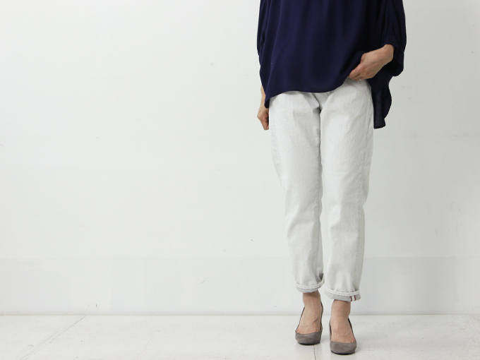Ordinary Fits (オーディナリーフィッツ) 5POCKET ANKLE DENIM white