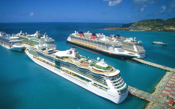Barcos en el Caribe