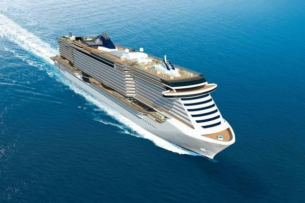 Rendering of the new class of ships that will be built by Fincantieri for MSC Cruises, to be delivered in 2017 and 2018