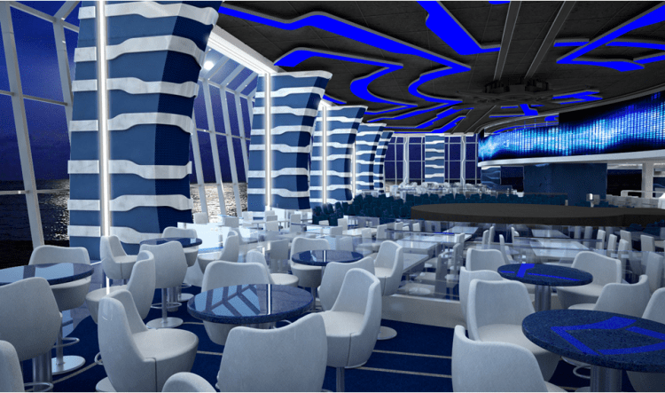 Dining Area in Meraviglia Aft Lounge