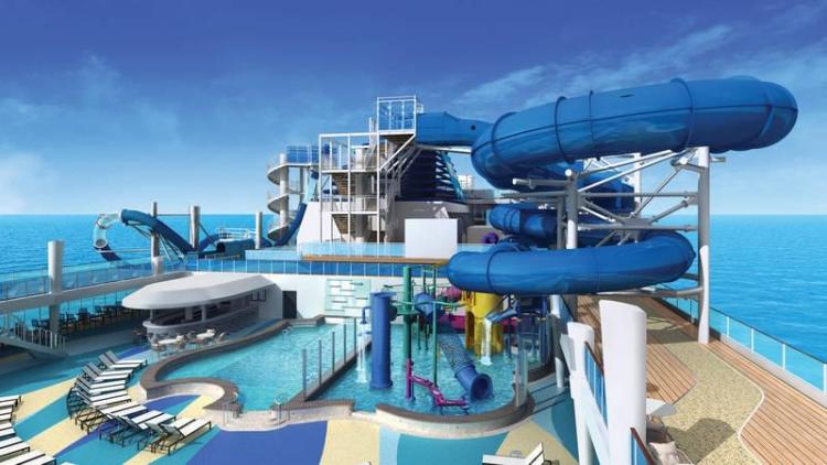 The Waterpark on the Norwegian Bliss