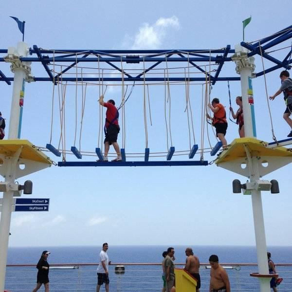 Carnival Horizon Rope Course
