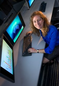 """Jenny Hayward - Research Scientist, Energy Technology (Newcastle). """"My two boys, Peter (11) and Tom (9) once told me I go to work, do a few clicks on the computer, have lunch and come home."""""""