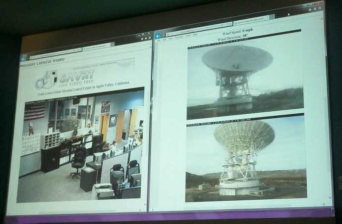 Students Served Science on NASA Dishes