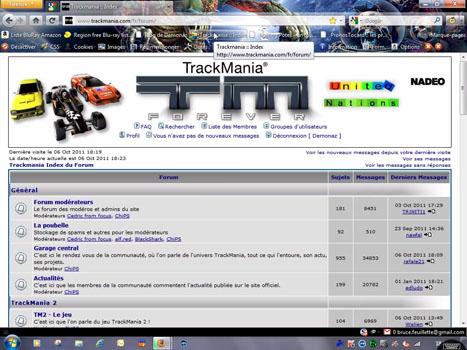 WebOS - Le forum TM vu sur Firefox via SplashTop